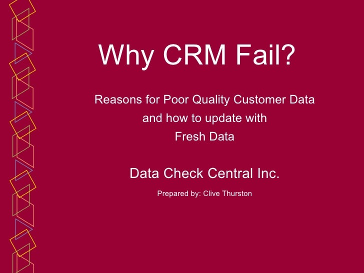 How to get Sound Customer Data for CRM
