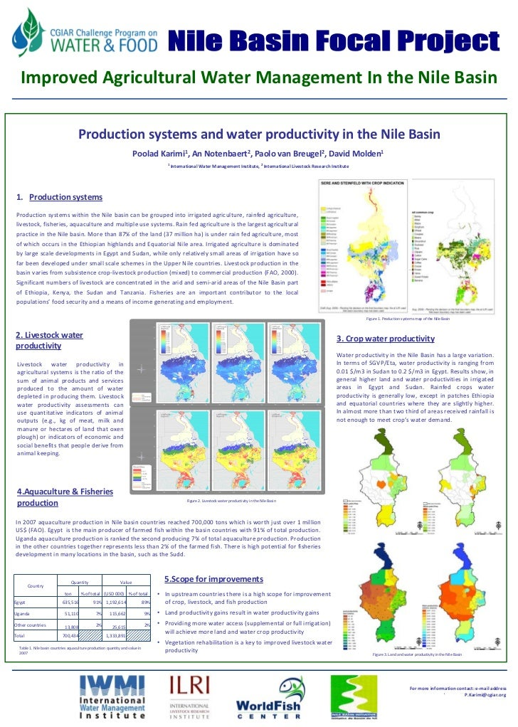 FU Berlin        Improved Agricultural Water Management In the Nile Basin                                        Productio...