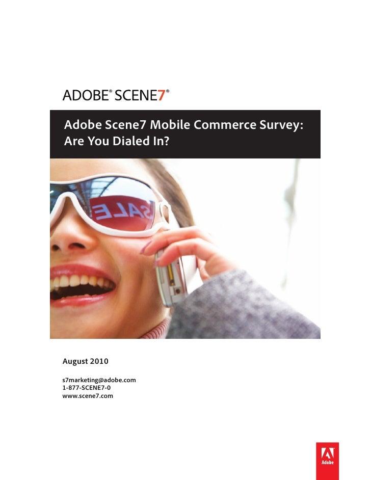 Adobe Scene7 2010 Mobile Commerce Survey