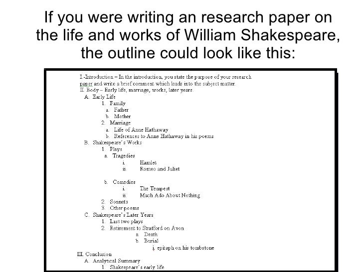 Tips on writing an outline for a research paper