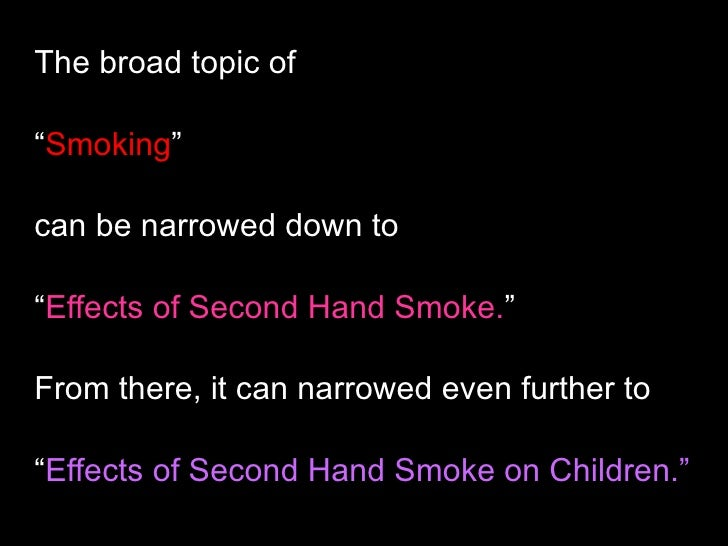 """second hand smoke research paper Bans on smoking in vehicles carrying children that they reduce exposure"""" to second-hand smoke research paper published in tobacco control."""