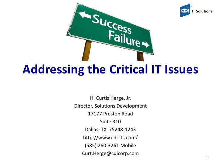 Mergers & Acquisitions - Addressing The Critical IT Issues