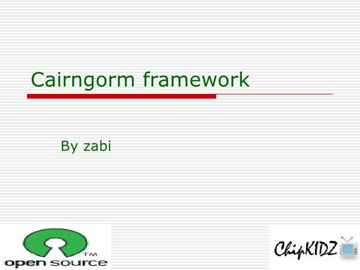cairngorm framework by zabi