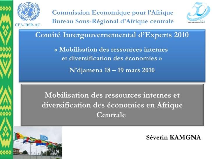 Séverin KAMGNA Mobilisation des ressources internes et diversification des économies en Afrique Centrale  Comité Intergou...