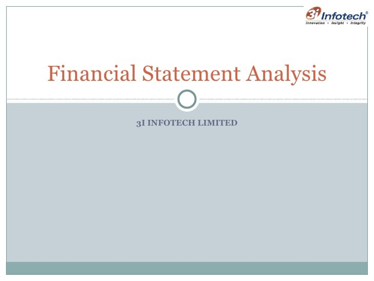 3I INFOTECH LIMITED Financial Statement Analysis