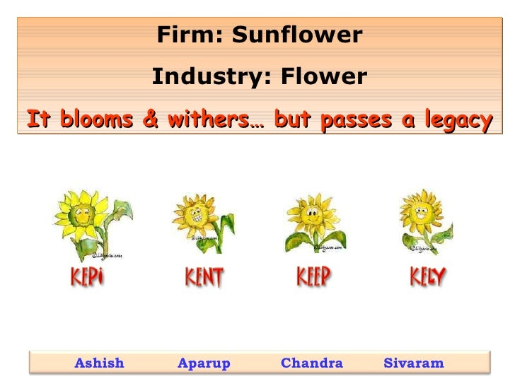 Firm: Sunflower Industry: Flower It blooms & withers… but passes a legacy Ashish  Aparup  Chandra  Sivaram