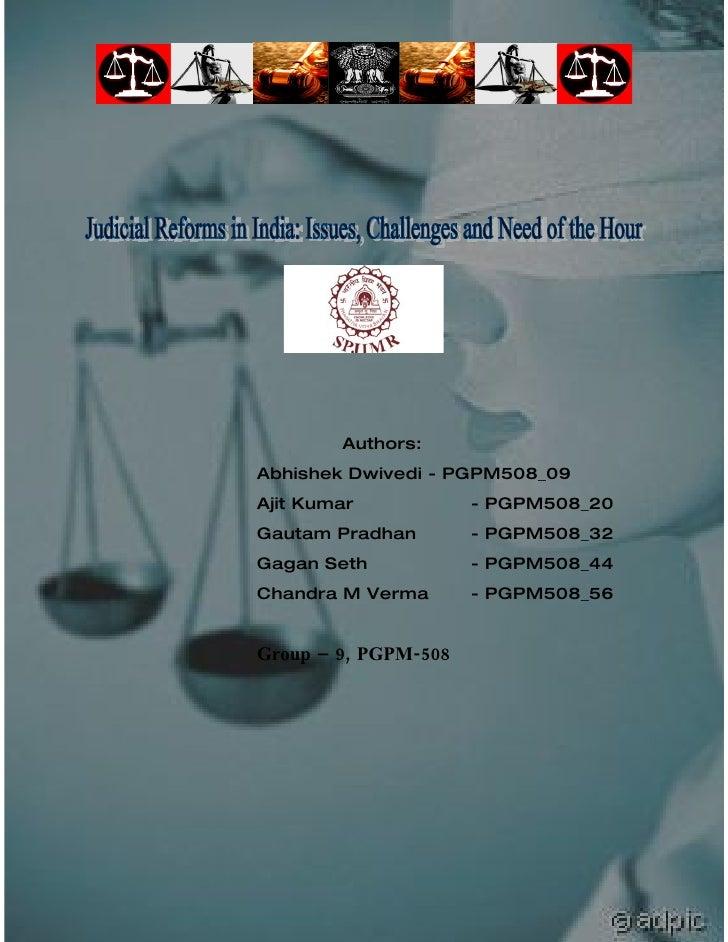 Judicial Reforms in India