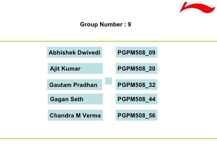 Chandra M Verma Group Number : 9 PGPM508_56 Gagan Seth PGPM508_44 Gautam Pradhan PGPM508_32 Ajit Kumar PGPM508_20 Abhishek...
