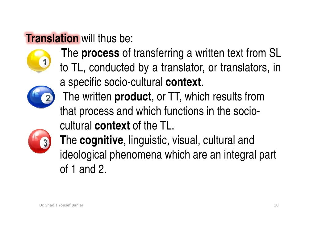 What is the process of translation?