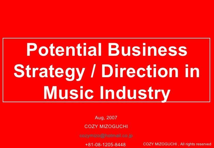 New Biz Dev In Music Industry