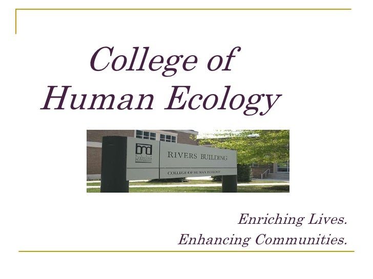 C:\College Of Human Ecology