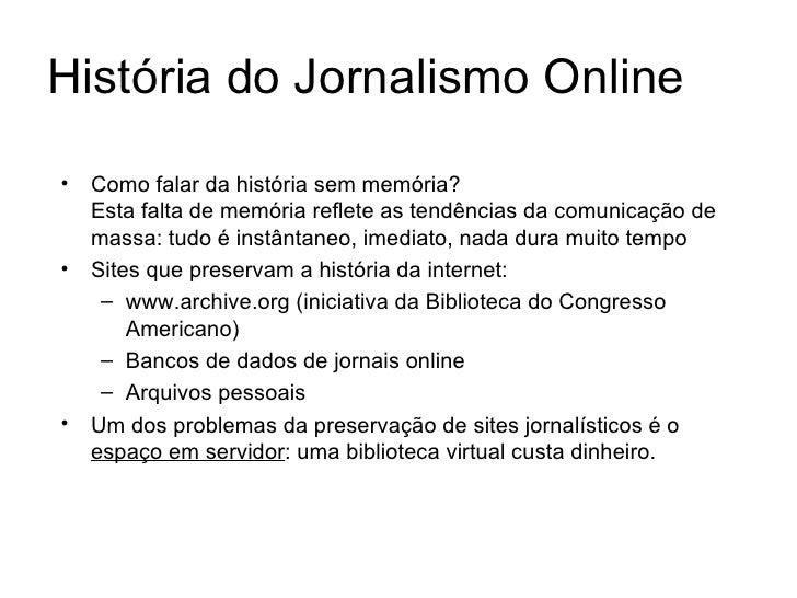 internet jornalismo