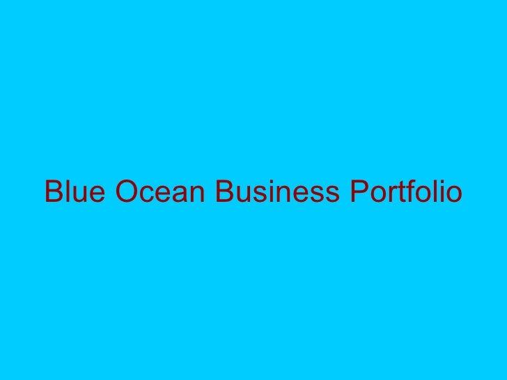 Blue Ocean Business Portfolio
