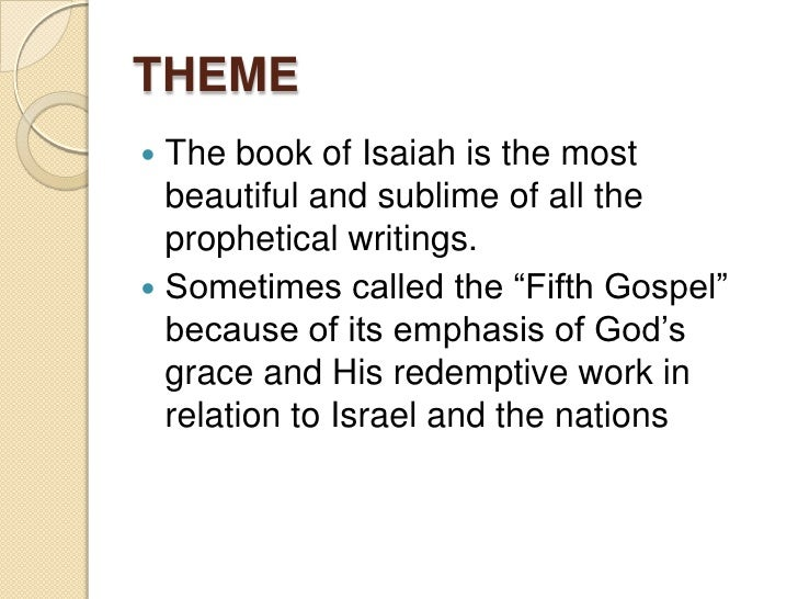 essay on the book of isaiah An expository commentary on the book of isaiah [a work in progress] the translation used is the author's own unless otherwise indicated james e smith.