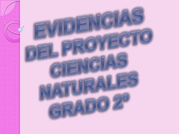 EVIDENCIAS DEL PROYECTO CIENCIAS NATURALES GRADO 2º<br />