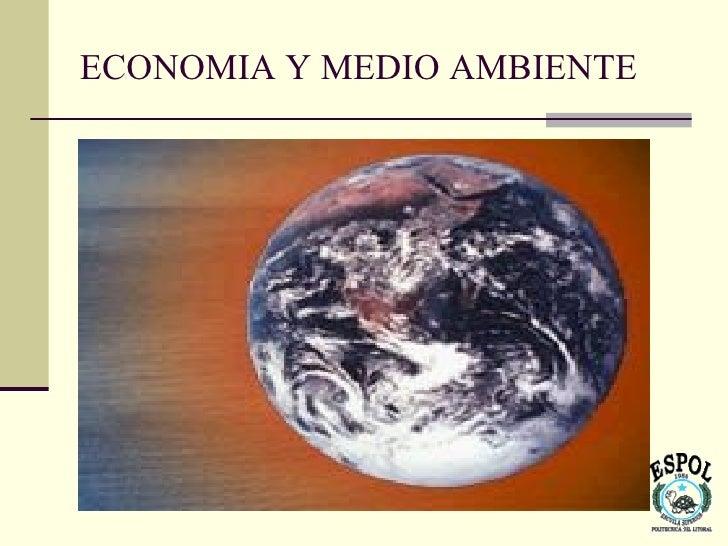 ECONOMIA Y MEDIO AMBIENTE