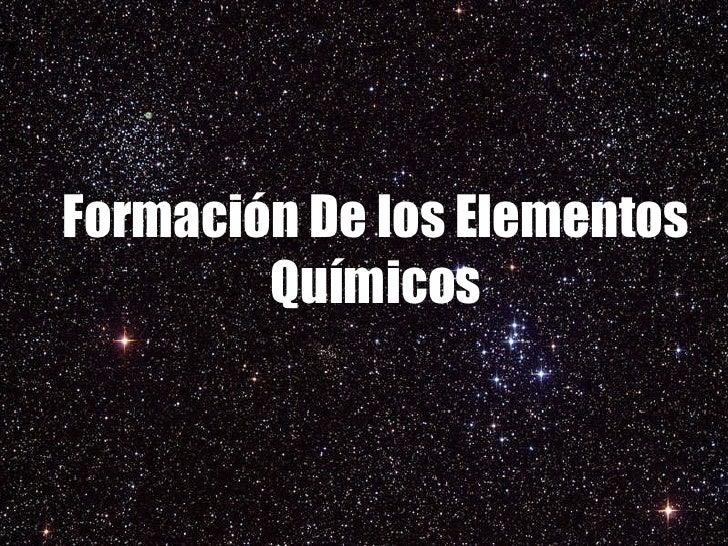 formacion del universo: