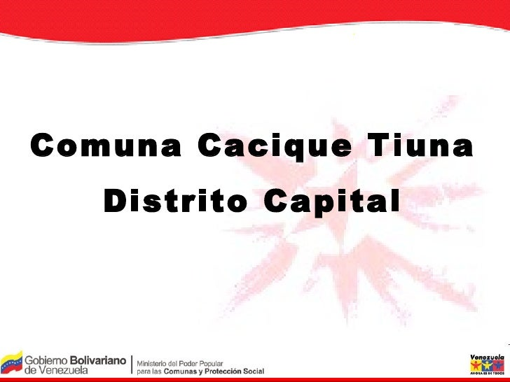 Comuna Cacique Tiuna Distrito Capital