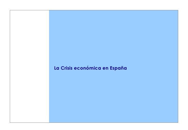 La Crisis económica en España