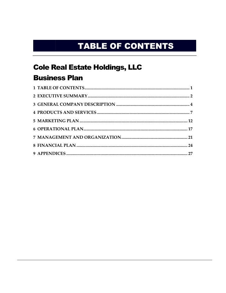 Business plan for energy company