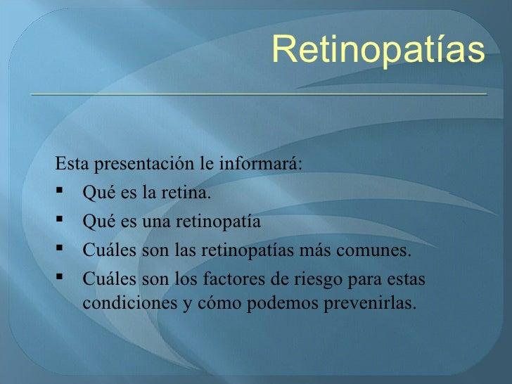 Retinopatías