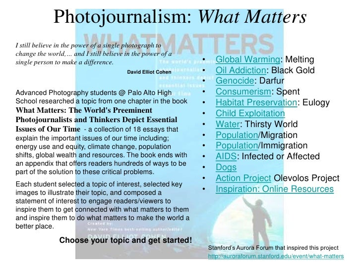 Photojournalism: What Matters