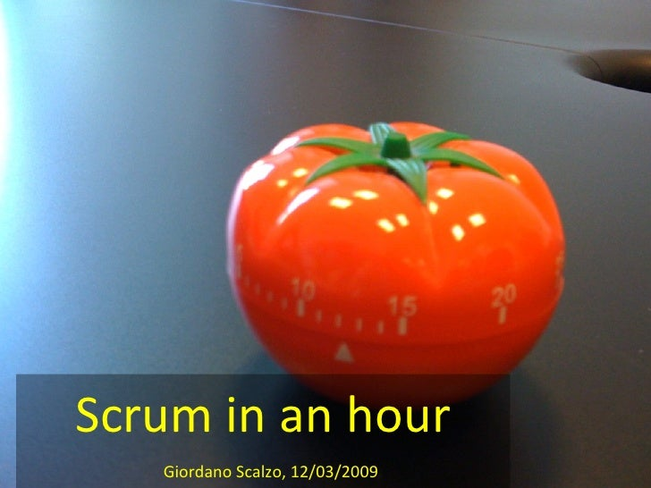 Scrum in an hour