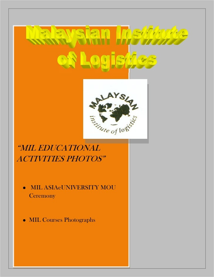MIL EDUCATIONAL ACTIVITIES PHOTOS     MIL ASIAeUNIVERSITY MOU   Ceremony     MIL Courses Photographs