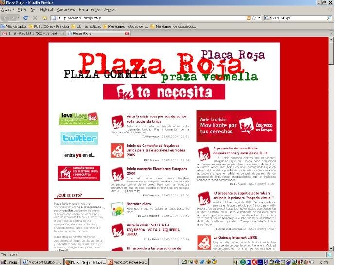 Pegada Virtual de Carteles Electorales IU Europeas 2009