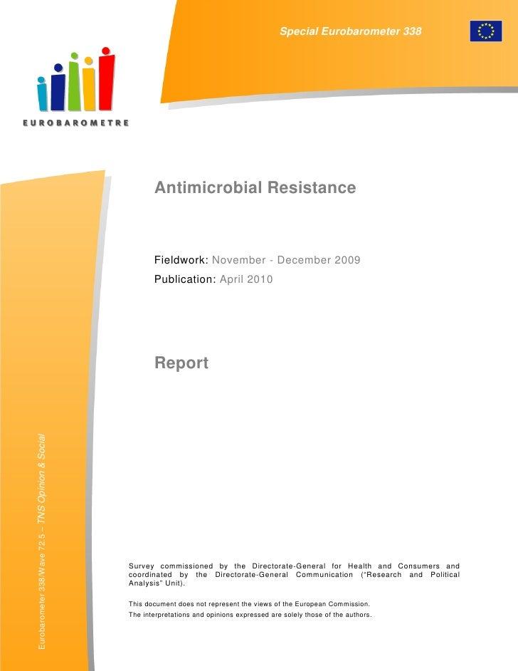 Resistencia a antimicorbianos Eurobarometro 2010
