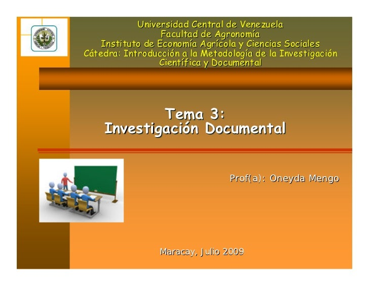 Universidad Central de Venezuela                   Facultad de Agronomía     Instituto de Economía Agrícola y Ciencias Soc...
