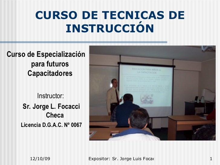 Técnicas de Instrucción (Instruction Techniques)
