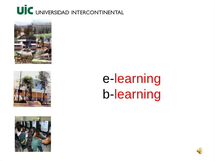 e- learning b- learning