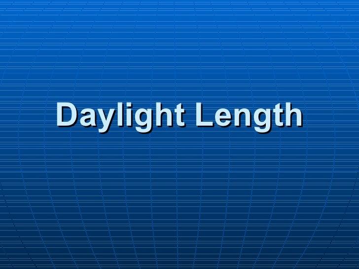 Daylight Length Parker