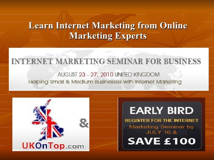 Learn Internet Marketing from Online Marketing Experts