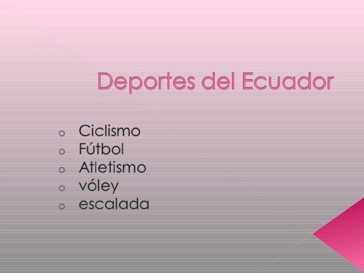 trabajo de deportes ecuador