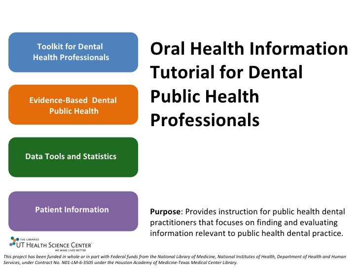 Module 4: Patient Information- Oral Health Resources