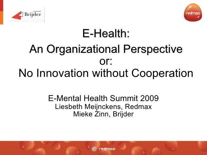 Presentatie E-mentalhealthsummit 2009/Brijder-Redmax