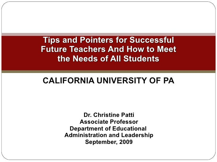 Tips and Pointers for Successful Future Teachers