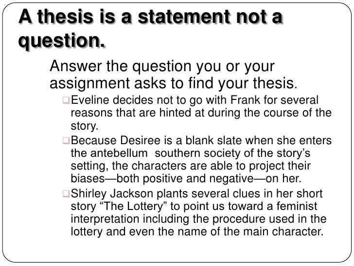 Essay Topics Desiree S Baby