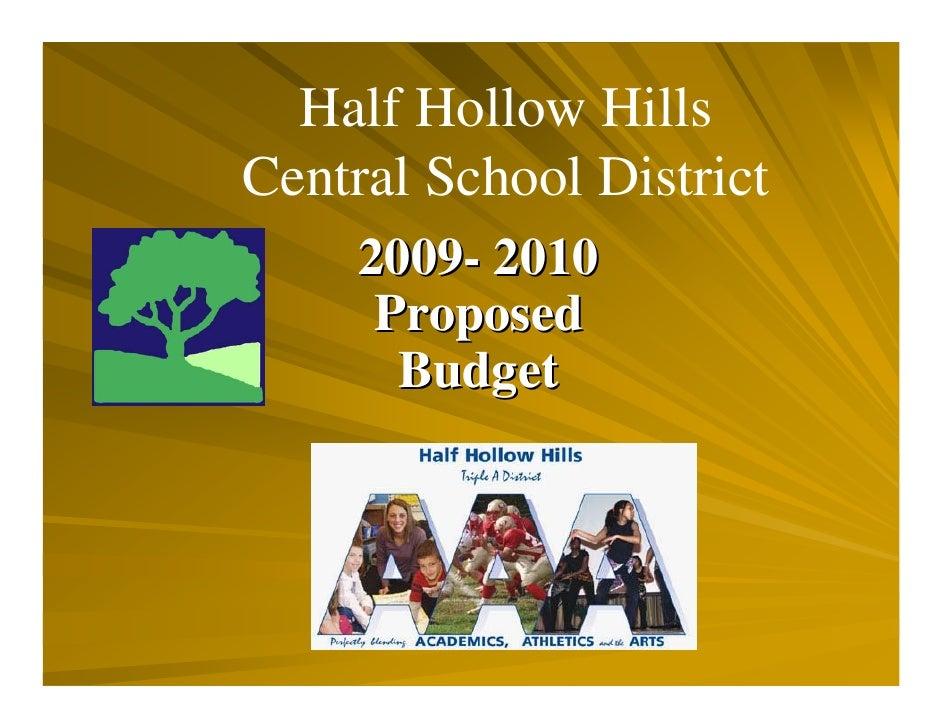 Budget Presentation 042009