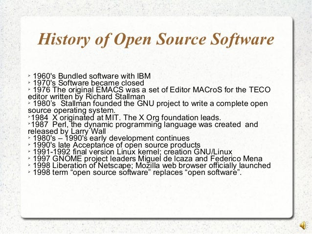 Open Source Software / Free Software (OSS/FS) References