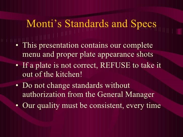 Menu Presentation Test old version