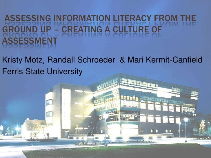 Assessing Information Literacy From the Ground Up