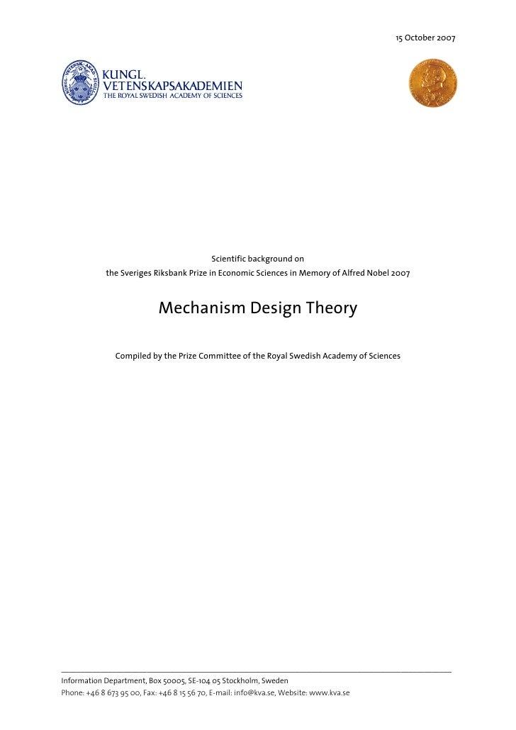 Mechanism Design Theory