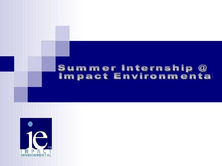Internship   Impact Environmental