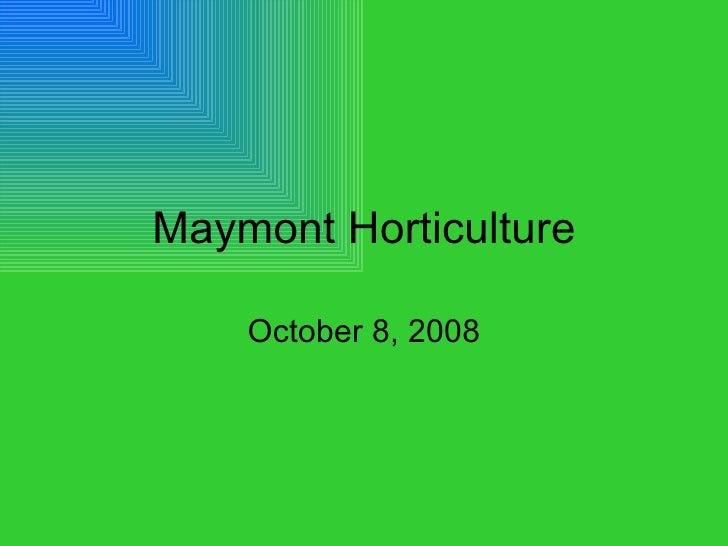 Internship   Maymont Horticulture
