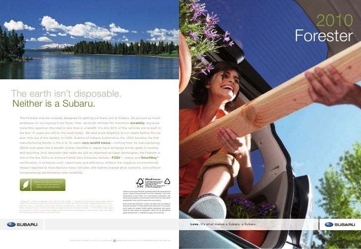 C:\Documents And Settings\Owner\Desktop\2010 Forester Brochure