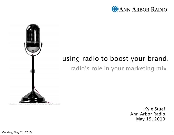 using radio to boost your brand.                                                                               radio's rol...