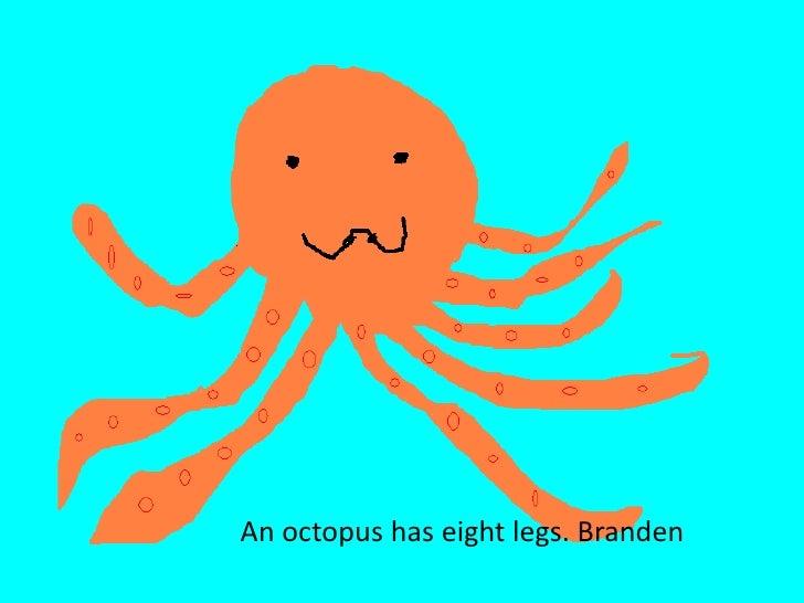 An octopus has eight legs. Branden<br />